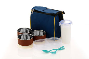 2111 Microwave Safe Stainless Steel Small Square Lunch Box Containers