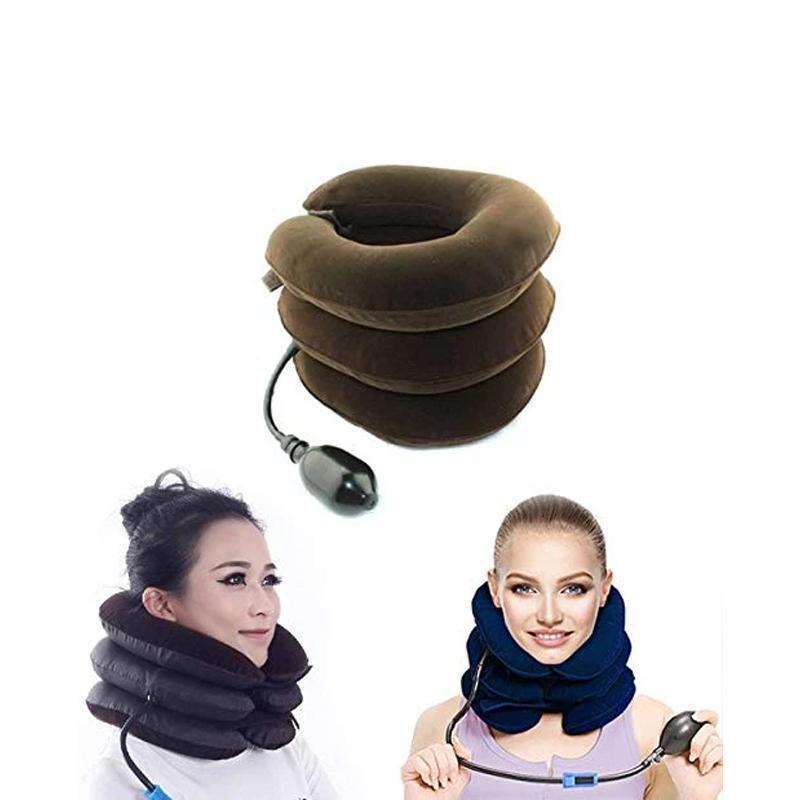 0514 Three Layers Neck Traction Pillow - mstechindia.com