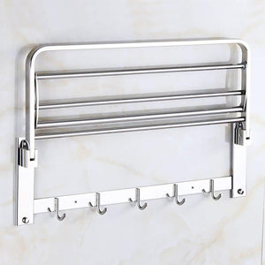 0314 Bathroom Accessories Stainless Steel Folding Towel Rack - mstechindia.com