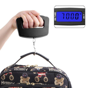 0548 Black Digital Portable Luggage Scale with LCD Backlight (50 kg)