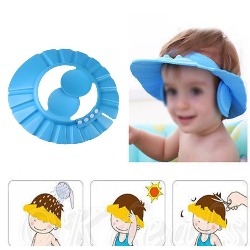 Adjustable Safe Soft Baby Shower cap