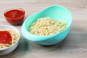 0108 Kitchen Plastic big Rice Bowl Strainer Perfect Size for Storing and Straining - mstechindia.com