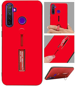 Personality Shock Proof Hybrid Armor Stand Back Cover Case for Realme 5Pro