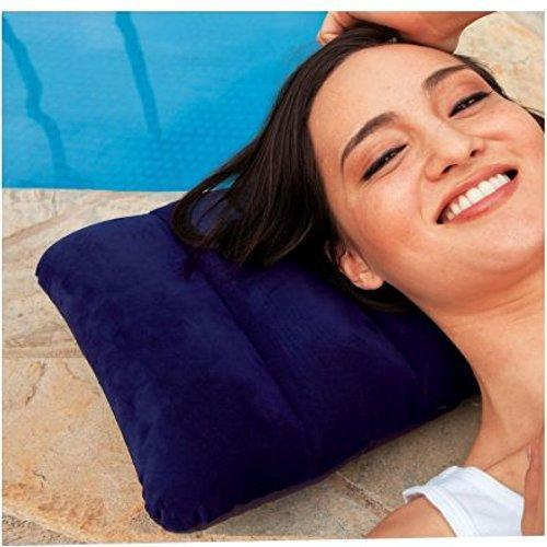 0510 Velvet Air Inflatable Travel Pillow (Blue)