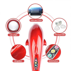0382 3 in 1 Dolphin Handheld Massager - mstechindia.com