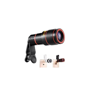 0319 Clip-on 8X Optical Zoom Telescope Phone Camera Lens - mstechindia.com