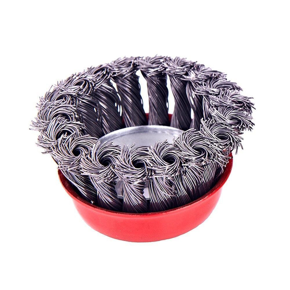 0195 Wire Wheel Cup Brush (Black) - mstechindia.com