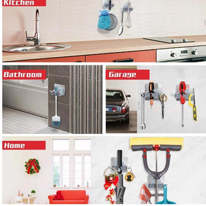 0198 Wall Mounted Mop & Broom Hanger Holder (1-Layer) - mstechindia.com