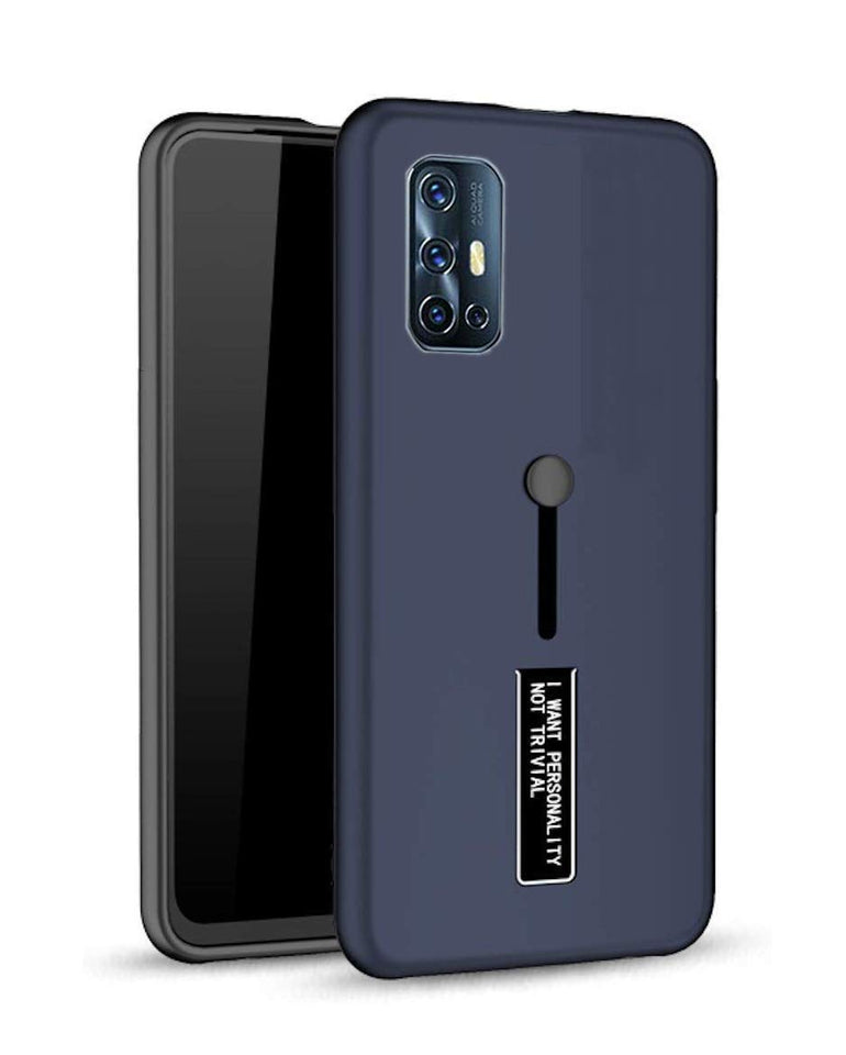 Personality Shock Proof Hybrid Armor Stand Back Cover Case for VIVO V 17