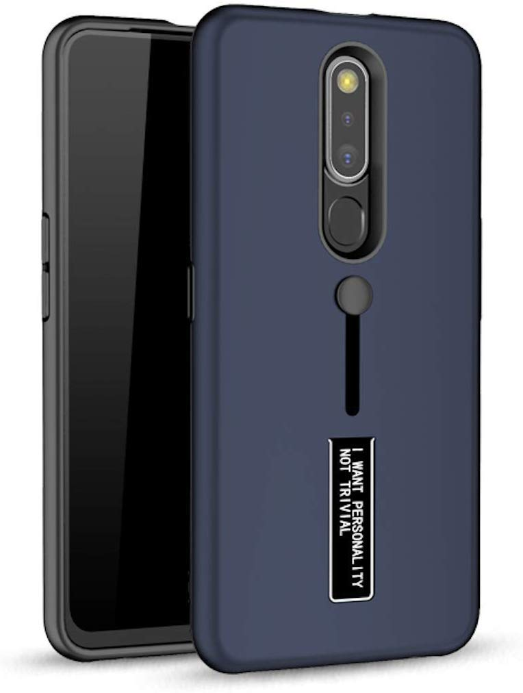 Personality Shock Proof Hybrid Armor Stand Back Cover Case for VIVO V17-PRO