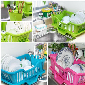 0747 (Small) Plastic Sink Dish Drainer Drying Rack