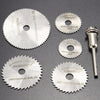 0408 -6pcs Metal HSS Circular Saw Blade Set Cutting Discs for Rotary Tool