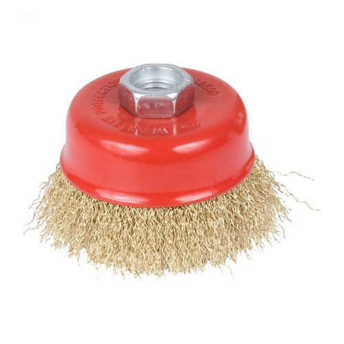 0194 Wire Wheel Cup Brush (Gold) - mstechindia.com