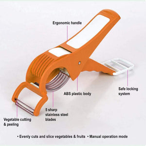 0158 Vegetable Cutter with Peeler - mstechindia.com