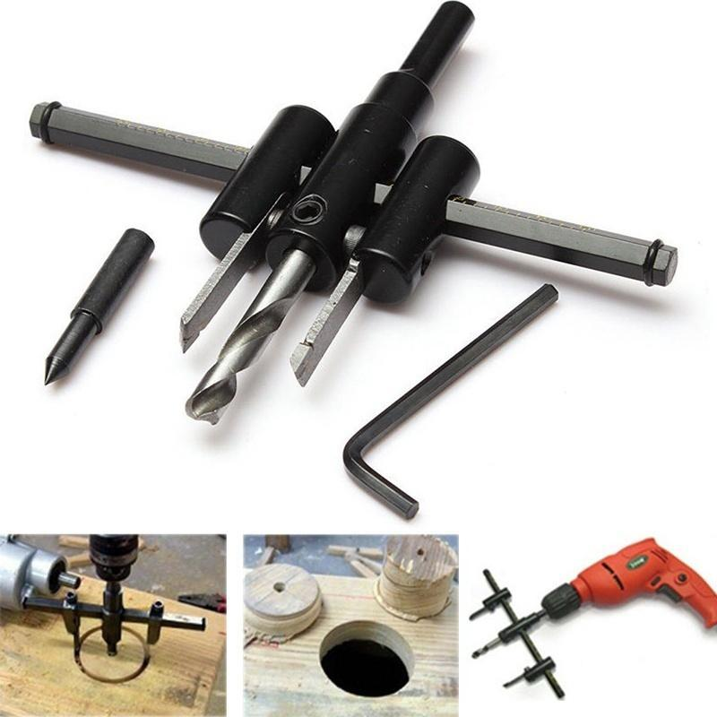 0447 Adjustable Circle Hole Saw Drill Bit Cutter