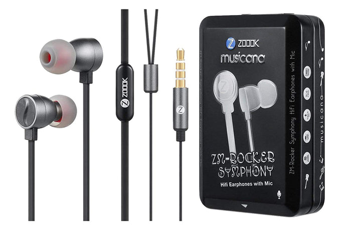 Zoook Rocker ZK-ZM-RKSymphony Earphone with Mic (Black)