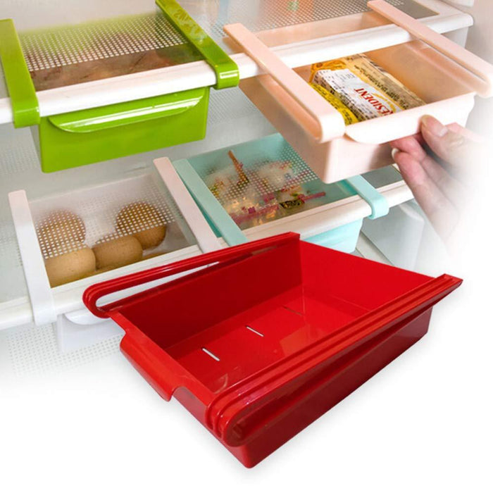 0160 Fridge Space Saver Organizer Slide Storage Racks Shelf (1 pcs) - mstechindia.com