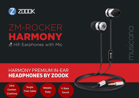 Zoook Rocker Harmony Ultra Balanced Earphones with Mic