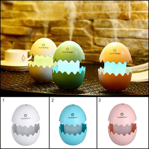 0393 Funny USB Mini Egg humidiier with Colorful Night Light egg tumbler Aroma Diffuser for Car Home Office Mist Maker egg air purifier LED Light