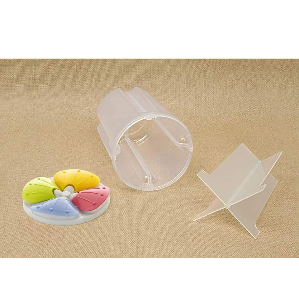 0799 4 Section Transparent Storage Container for Kitchen (2200 ml)
