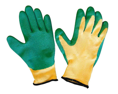 0719 Falcon Rubber Garden Gloves (Green & Yellow)