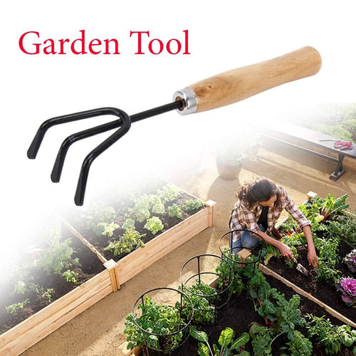 0474 Hand Cultivator (Steel, Black)