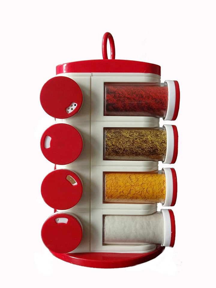 0166 Revolving Plastic Spice Rack Set (16pc) - mstechindia.com