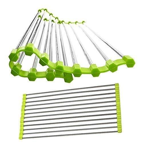 2064 Over the Sink Multipurpose Roll-Up Foldable Dish Drying Rack