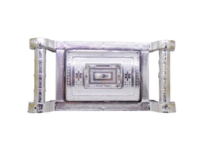 2091 Multipurpose 4 Section Royal Design Silver Storage/Gift Box