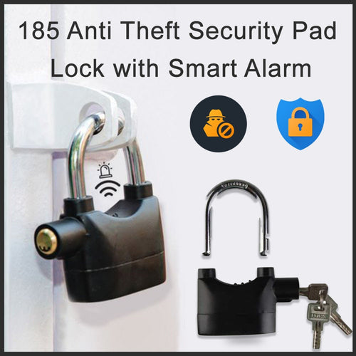 0185 Anti Theft Security Pad Lock with Smart Alarm - mstechindia.com
