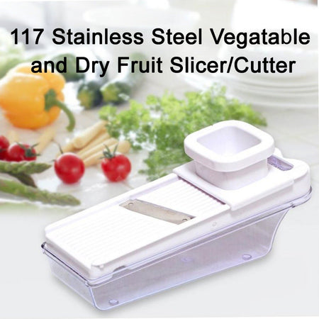 0117 Stainless Steel Vegatable and Dry Fruit Slicer/Cutter - mstechindia.com
