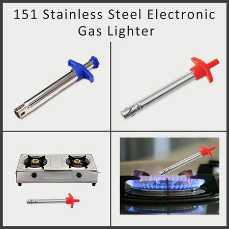0151 Stainless Steel Electronic Gas Lighter - mstechindia.com