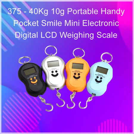 0375 -40Kg 10g Portable Handy Pocket Smile Mini Electronic Digital LCD Weighing Scale - mstechindia.com
