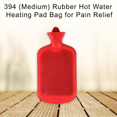 0394 (Medium) Rubber Hot Water Heating Pad Bag for Pain Relief