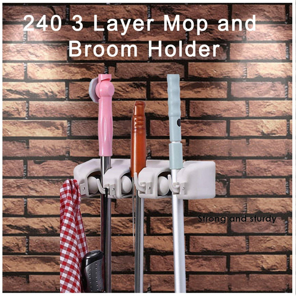 0240 3 Layer Mop and Broom Holder - mstechindia.com