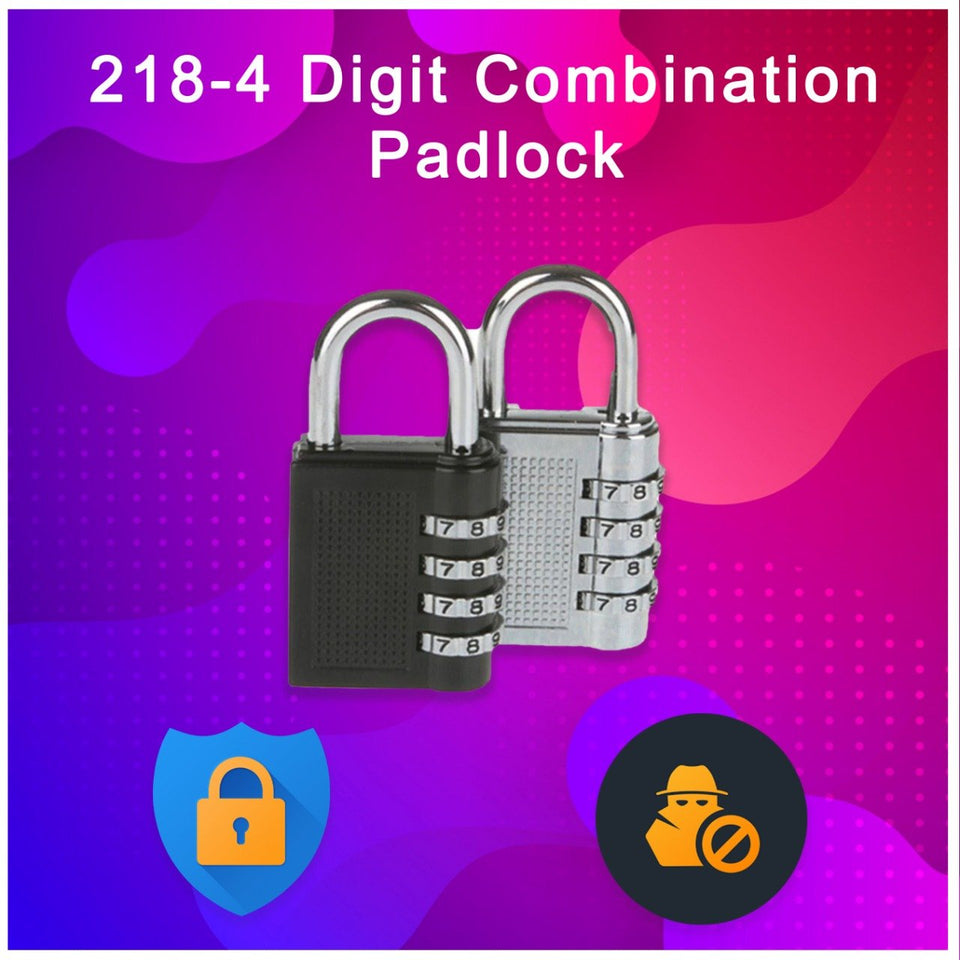 0218 -4 Digit Combination Padlock - mstechindia.com