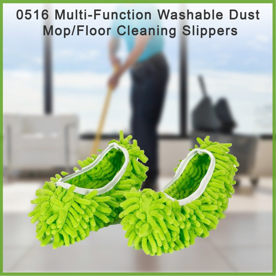 0516 Multi-Function Washable Dust Mop/Floor Cleaning Slippers