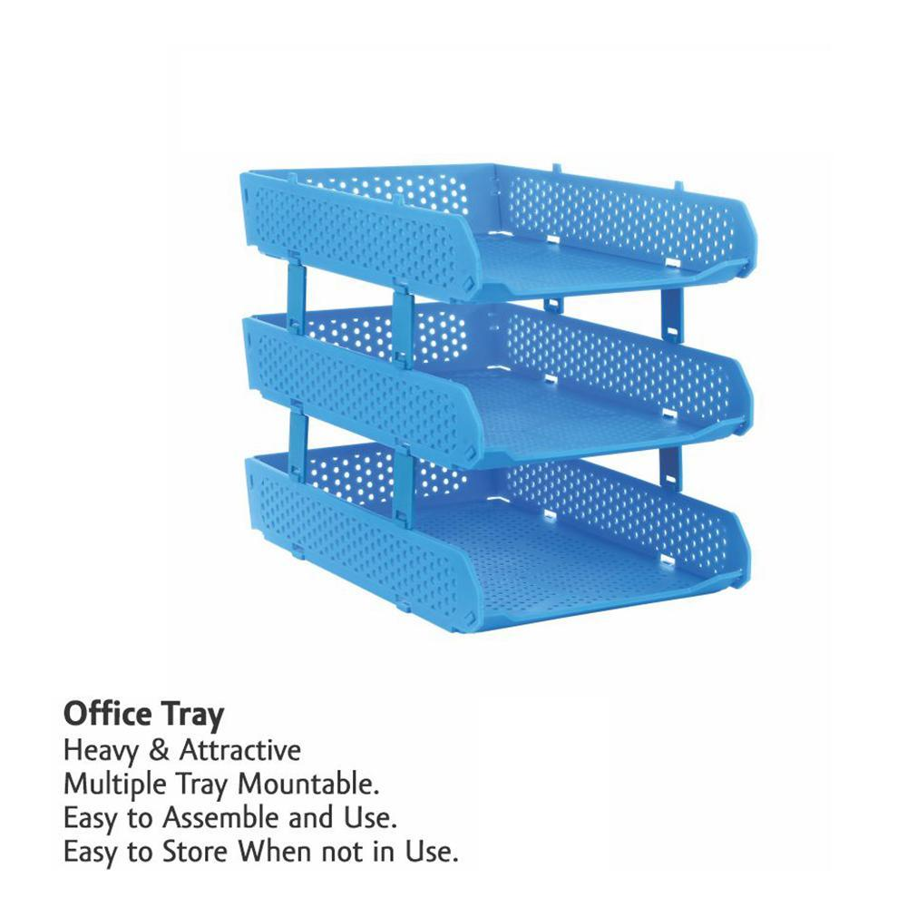 0329 Foldable Tray Desk Organizer File Tray, Office Files, Letter Tray, Magazine Holder Rack, Document Tray, for Home Study Room Office, Stationery - mstechindia.com