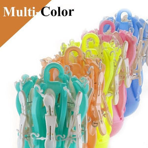 0336 Small Octopus Folding Hanging Dryer Round Folding with 16 Pegs  (Multicolor) - mstechindia.com