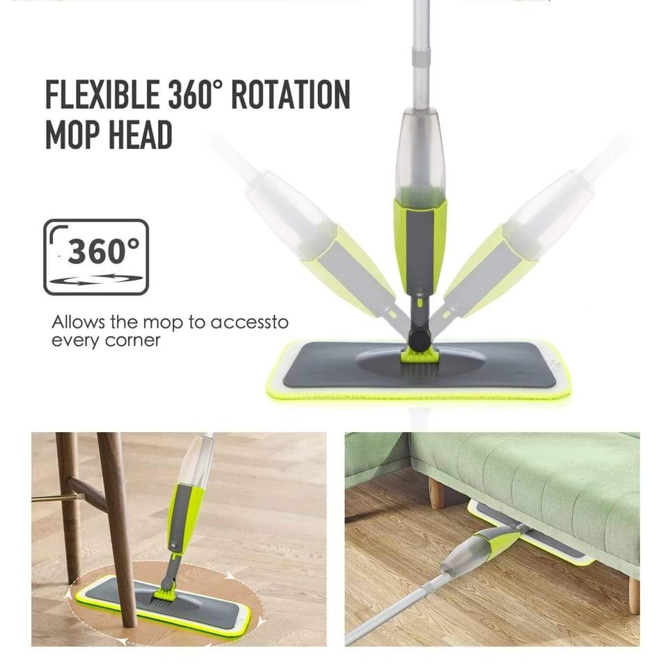 0802 Cleaning 360 Degree Healthy Spray Mop with Removable Washable Cleaning Pad