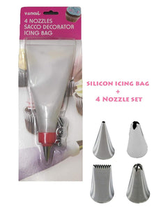 0805 Cake Decorating Nozzle with Piping Bag Stainless Steel Piping Cream Frosting Nozzles