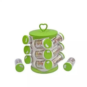 Spice jar Set - Food Grade Plastic 12pcs Spice jar