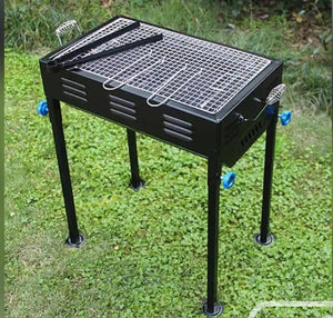 2105 Terrace Garden Picnic Barbecue with Skewers & Wooden Handle