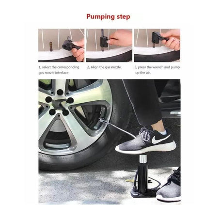 0488 Mini Foot Pump Inflator For  Bike and car