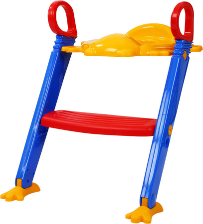 0344 -3 in 1 Kids/Toddler Potty Toilet Seat with Step Stool Ladder (Multicolour) - mstechindia.com