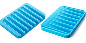 Silicone Soap Holder Soap Dish Stand Saver Tray Case for Shower