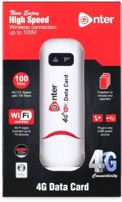 Enter USB Modem Tri Band 150Mbps 4G LTE Dongle, Stick Data Card 2G/3G/4G All Sim Support