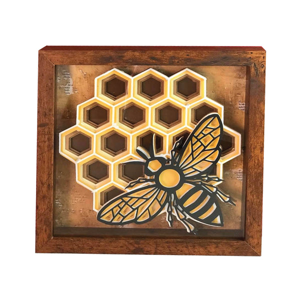 Multi layer mandala honeycomb bee