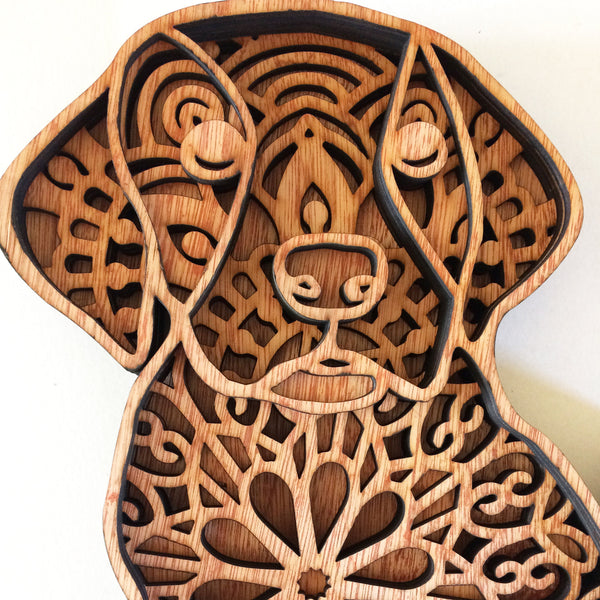 Multi layer mandala cute dog puppy