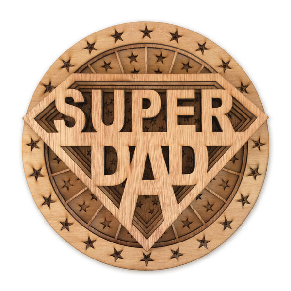 Multi layer mandala super dad father's day gift